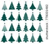 vector seamless christmas tree... | Shutterstock .eps vector #778331482