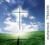 Christian Cross Against The Sk...