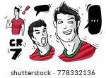 cr7 cristiano ronaldo in...   Shutterstock .eps vector #778332136