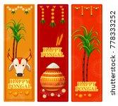 happy pongal religious festival ... | Shutterstock .eps vector #778333252