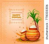 happy pongal religious festival ... | Shutterstock .eps vector #778333306