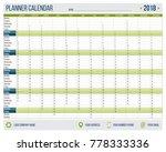 english calendar planner for... | Shutterstock .eps vector #778333336