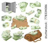 money vector stack of dollar or ... | Shutterstock .eps vector #778334086