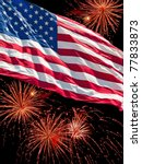 the american flag and a... | Shutterstock . vector #77833873
