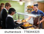 teenage students being served... | Shutterstock . vector #778344325