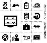 patient icons. set of 13... | Shutterstock .eps vector #778348852