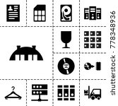 storage icons. set of 13...   Shutterstock .eps vector #778348936