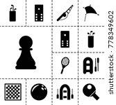 hobby icons. set of 13 editable ... | Shutterstock .eps vector #778349602