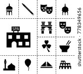culture icons. set of 13... | Shutterstock .eps vector #778349656