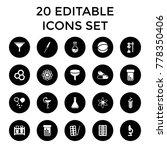 chemistry icons. set of 20... | Shutterstock .eps vector #778350406