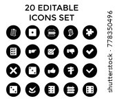 choice icons. set of 20... | Shutterstock .eps vector #778350496