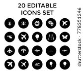 fly icons. set of 20 editable...   Shutterstock .eps vector #778351246
