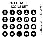 avatar icons. set of 20...