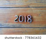 new year's design 2018 with...   Shutterstock . vector #778361632