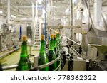 bottles with champagne wine are ... | Shutterstock . vector #778362322