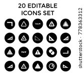 triangle icons. set of 20... | Shutterstock .eps vector #778363312