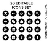 snack icons. set of 20 editable ...   Shutterstock .eps vector #778363396