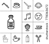 clipart icons. set of 13... | Shutterstock .eps vector #778363672