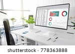 computer with financial... | Shutterstock . vector #778363888