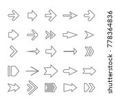 icon set with vector arrows for ... | Shutterstock .eps vector #778364836