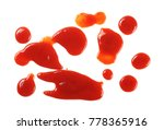 red ketchup splashes isolated... | Shutterstock . vector #778365916