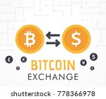 bitcoin to dollar currency... | Shutterstock .eps vector #778366978