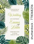 wedding event invitation card... | Shutterstock .eps vector #778368256