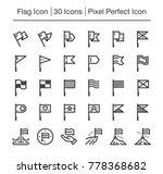 flag line icon editable stroke... | Shutterstock .eps vector #778368682