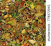 cartoon cute doodles latin... | Shutterstock .eps vector #778372042
