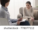 young female patient talking... | Shutterstock . vector #778377112