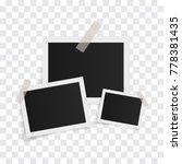 rectangle photo frames on... | Shutterstock .eps vector #778381435