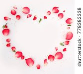 Stock photo rose petals heart for wedding or valentine s day 778382338