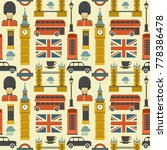 london pattern. vector colorful ... | Shutterstock .eps vector #778386478