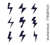 set of thunder and bolt...   Shutterstock .eps vector #778387615