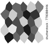 black and white irregular grid  ... | Shutterstock .eps vector #778388446