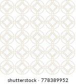 japanese pattern vector. gold... | Shutterstock .eps vector #778389952