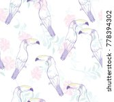 seamless pattern with hand... | Shutterstock .eps vector #778394302