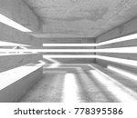 dark empty room. concrete rusty ...   Shutterstock . vector #778395586