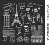 paris doodle illustrations... | Shutterstock .eps vector #778399735