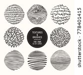 hand drawn textures   brush... | Shutterstock .eps vector #778401415