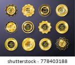 set of 9 high quality shiny... | Shutterstock .eps vector #778403188