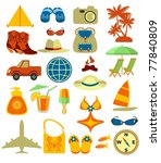 beach icons | Shutterstock .eps vector #77840809