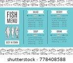 fish menu of the restaurant.... | Shutterstock . vector #778408588