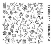 set of doodle cartoon objects... | Shutterstock . vector #778408666