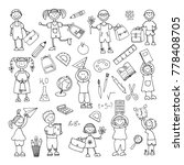 hand drawn doodle. back to... | Shutterstock . vector #778408705