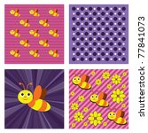 bee. vector background. eps10... | Shutterstock .eps vector #77841073