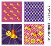 bee. vector background. eps10... | Shutterstock .eps vector #77841073