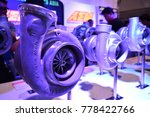 Small photo of MANILA, PH - NOV. 30: Garrett Turbo display at Manila Auto Salon on November 30, 2017 in Manila, Philippines. Manila Auto Salon is a annual gathering exhibit for automotive aftermarket industry.