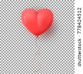 realistic air balloon isolated... | Shutterstock .eps vector #778424512