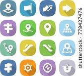 flat vector icon set   pointer... | Shutterstock .eps vector #778427476